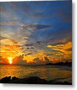 Sunset In Paradise - Beach Photography By Sharon Cummings Metal Print by Sharon Cummings