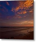 Sunset In Playa Encanto Metal Print