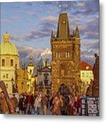 Sunset In Prague Metal Print by Raffi  Bashlian