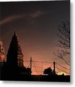 Sunset In Prambanan Metal Print by Achmad Bachtiar