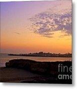 Sunset In Santa Cruz California  Metal Print by Garnett  Jaeger