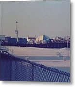 Sunset In Seaside Heights Nj Metal Print