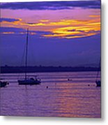 Sunset In Skerries Harbor Metal Print
