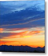 Sunset In The Black Mountains Metal Print