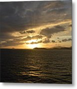 Sunset In The Caribbean Metal Print