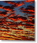 Sunset In The Clouds Metal Print