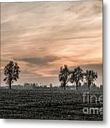 Sunset In The Country - Orange Metal Print