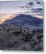Sunset In The Davis Mountains Metal Print