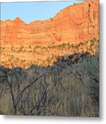 Sunset In The Desert Canyon 2 Metal Print