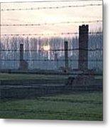 Sunset In The Former Death Camp Auschwitz Birkenau Poland Metal Print