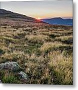 Sunset In The Hills Metal Print