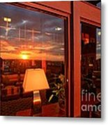 Sunset In The Lobby Metal Print