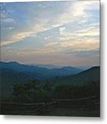 Sunset In The Mountans Metal Print