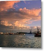 Sunset In The Port Metal Print