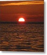 Sunset In The Sea Metal Print