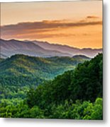 Sunset In The Smoky's Metal Print