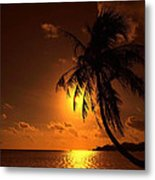 Sunset In The South Pacific Metal Print