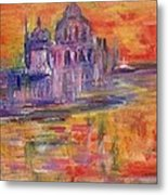 Sunset In Venice Metal Print