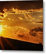 Sunset In Vernon County Metal Print