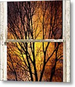 Sunset Into The Night Window View 3 Metal Print