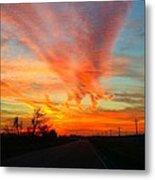 Sunset Iowa Metal Print by Kendra Sorum