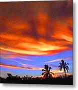 Sunset Key Largo Filtered Metal Print