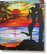 Sunset Kiss Metal Print