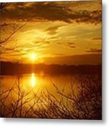 Sunset Lake Galena Metal Print