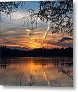 Sunset Lake Horicon Lakehurst New Jersey Metal Print