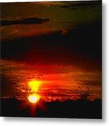 Sunset Landscape Photograph Metal Print