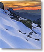 Sunset Light On The Snow Metal Print