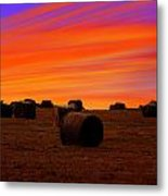 Sunset Lines Metal Print