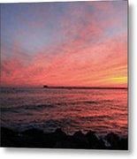 Sunset Longport N.j. Metal Print