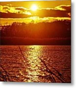 Sunset Love At Crosswinds Metal Print