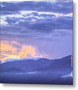 Sunset Low Clouds Metal Print