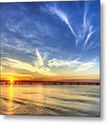 Sunset Mackinac Bridge Metal Print