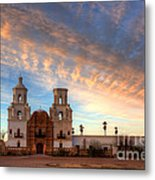 Sunset Majesty Mission San Xavier Del Bac Metal Print