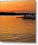 Sunset Marina Metal Print