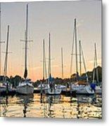 Sunset Masts Metal Print