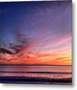 Sunset Moon Rise Metal Print