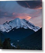 Sunset Mount Rainier Metal Print