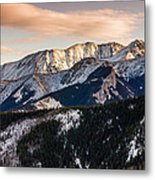 Sunset Mountains Metal Print