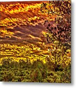 Sunset Navajo Tribal Park Canyon De Chelly Metal Print