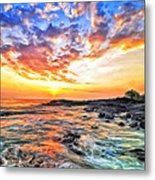 Sunset Near Old Kona Airport Metal Print