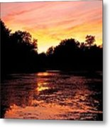 Sunset Near Rosemere - Qc Metal Print