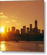 Sunset - New York City Metal Print