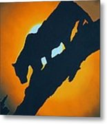 Sunset Night Hunt Metal Print
