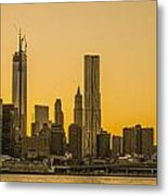 Sunset Ny Metal Print