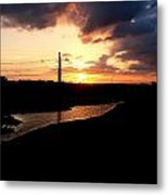 Sunset Of The Trinity River Metal Print