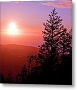 Sunset Off Mt Erie Washington Art Prints Metal Print